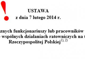 Zniesienie ustawy nr 1066 z dn. 7.02.2014 r.