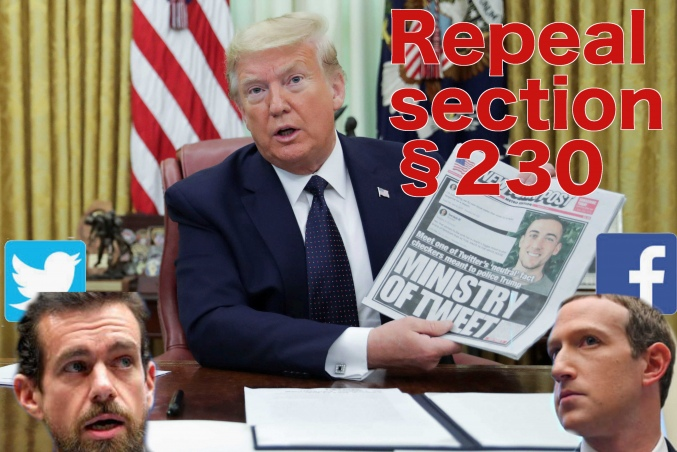 Repeal Section 230! Protect Freedom of Speech!