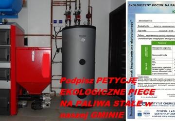 Petycja w sprawie dotacji celowych na EKOLOGICZNE PIECE C.O. na stałe paliwa ekologiczne (m.in. ekogroszek) w Gminie Oświęcim