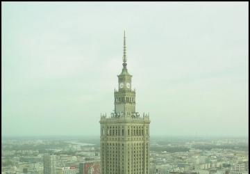 Demolition of Stalin's palace in Warsaw Poland / Rozbiórka pałacu Stalina w Warszawie