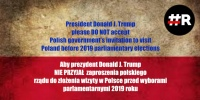 Pres. D.Trump NOT to visit Poland before 2019 Sejm elections