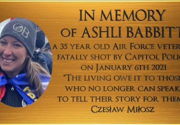 Ashli Babbitt Memorial Plaque