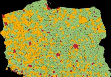 Ogrniaczenie ilości powiatów, gmin oraz liczby kandencyjnych urzędników.