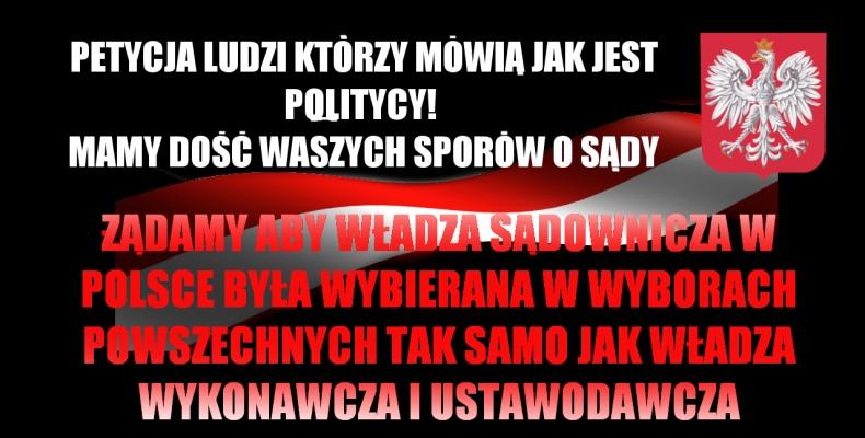 Aby sedziów wybierał Naród a nie politycy