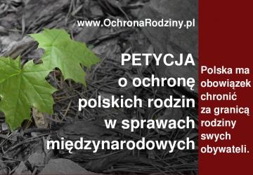 Ochrona polskich rodzin